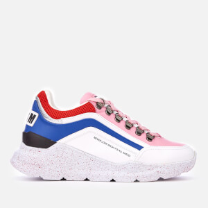 MSGM Women's Runner Style Trainers - White/Red/Pink