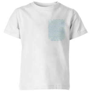My Little Rascal Pocket Waves Kids' T-Shirt - White