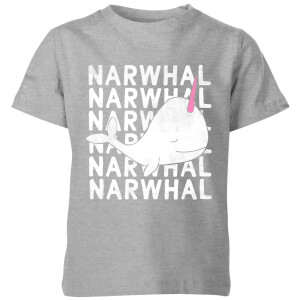 My Little Rascal Narwhal Kids' T-Shirt - Grey