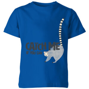 My Little Rascal Catch Me If You Can Kids' T-Shirt - Royal Blue