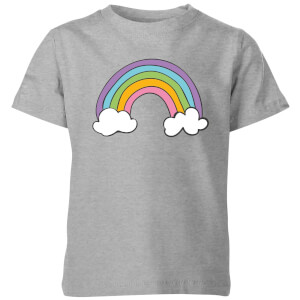My Little Rascal Rainbow Kids' T-Shirt - Grey
