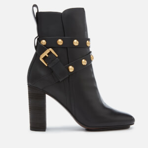 See By Chloé Women's Leather Heeled Boots - Nero