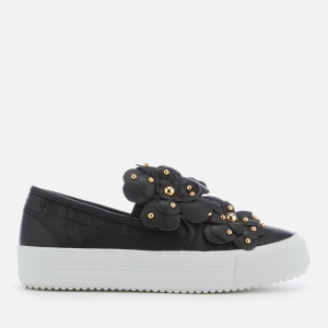 See By Chloé Women's Embellished Slip-On Flatform Trainers - Nero
