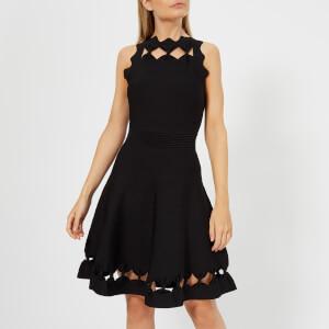 Ted Baker Women's Cherina Bow Detail Knitted Skater Dress - Black
