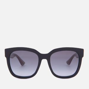Gucci Women's Acetate Square Frame Sunglasses - Black/Green