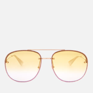 Gucci Women's Metal Tinted Aviator Sunglasses - Gold/Yellow