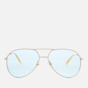 Gucci Metal Frame Sunglasses - Gold/Green