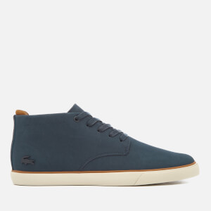 Lacoste Men's Esparre Chukka 318 1 Leather/Suede Derby Chukka Boots - Navy/Brown