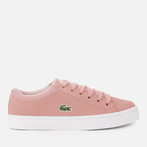 Lacoste Kid's Straightset 318 1 Trainers - Pink/Natural