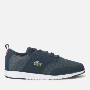 Lacoste Men's Light 318 3 Textile Runner Style Trainers - Navy/Brown