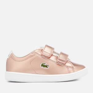 Lacoste Toddler's Carnaby Evo 318 2 Velcro Trainers - Pink/White