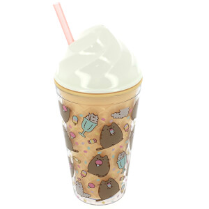 Pusheen Novelty Ice Cream Beaker with Straw