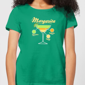 Infographic Margarita Women's T-Shirt - Kelly Green