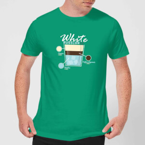 Infographic White Russian Men's T-Shirt - Kelly Green