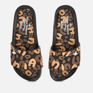 Vivienne Westwood for Melissa Women's Leopard Beach Slide Sandals - Black Contrast