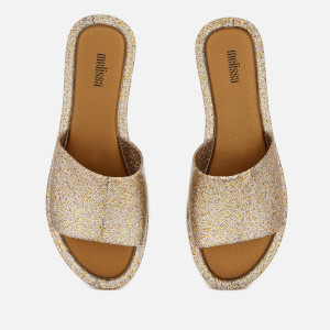 Melissa Women's Soul Slide Sandals - Gold Glitter