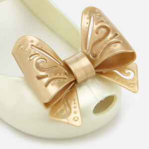 Mini Melissa Toddlers' Ultragirl Fairy Bow Ballet Flats - Pearl: Image 4