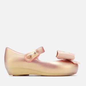 Mini Melissa Toddlers' Ultragirl Fairy Bow Ballet Flats - Rose Gold