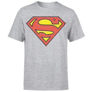 Originals Official Superman Crackle Logo Men's T-Shirt - Grey