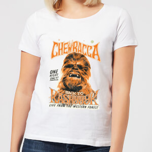 Star Wars Chewbacca One Night Only Damen T-Shirt - Weiß