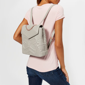 Ted Baker Women's Coletee Quilted Bow Leather Backpack - Charcoal