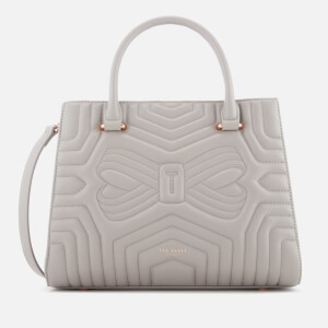 Ted Baker Women's Vieira Quilted Bow Tote Bag - Charcoal