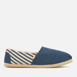 Superdry Men's Jetstream Espadrilles - French Navy Breton Stripe