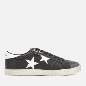 Superdry Women's Super Sleek Logo Lo Trainers - Black/Optic Star