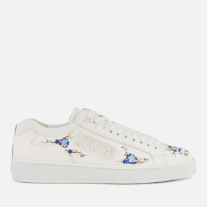KENZO Women's Tennis Flowers Embroidered Trainers - White
