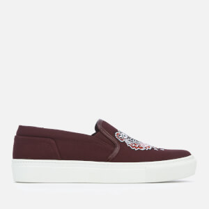 KENZO Women's K-Skate Tiger Slip-On Trainers - Bordeaux