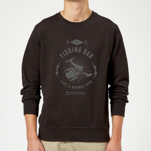 Fishing Dad Sweatshirt - Black