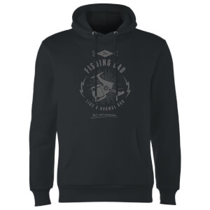 Fishing Dad Hoodie - Black