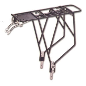 Trans-X Adjustable Black Alloy Pannier Rack