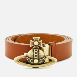 Vivienne Westwood Men's Brass Orb Buckle Belt - Brown