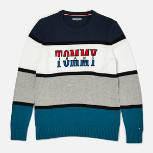 Tommy Hilfiger Boy's Retro Colorblock Sweatshirt - Blue Sapphire/Multi