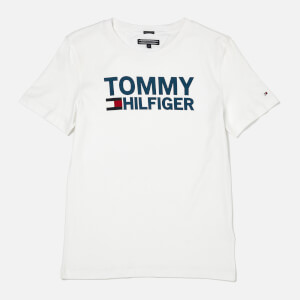 Tommy Hilfiger Boys' Essential Graphic Logo T-Shirt - White