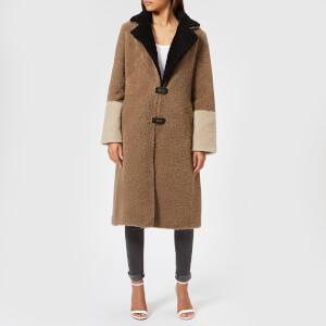 Saks Potts Women's Febbe Brown Coat - Brown/Beige/Black