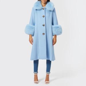 Saks Potts Women's Yvonne Sky Blue Coat - Blue