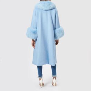 Saks Potts Women's Yvonne Sky Blue Coat - Blue: Image 2