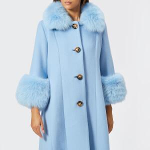 Saks Potts Women's Yvonne Sky Blue Coat - Blue: Image 3