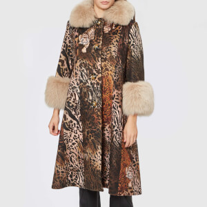 Saks Potts Women's Yvonne Animal Coat - Brown