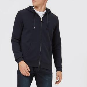 Emporio Armani Men's Zipped Basic Hoody - Blue