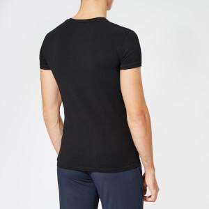 Emporio Armani Men's Small Logo Crew Neck T-Shirt - Black: Image 2
