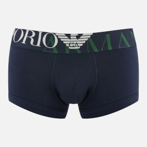 Emporio Armani Men's Single Pack Boxer Shorts - Blue
