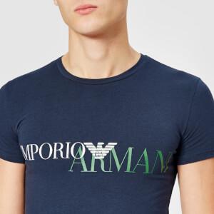 Emporio Armani Men's Large Logo T-Shirt - Blue: Image 4