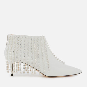 Christopher Kane Women's Crystal Fringed Ankle Boots - White
