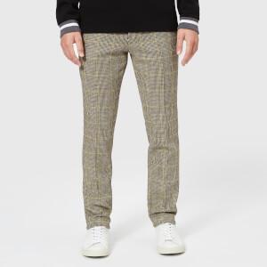 KENZO Men's Check Trousers - Pale Camel