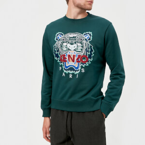 KENZO Men's Classic Tiger Sweatshirt - Pine Green
