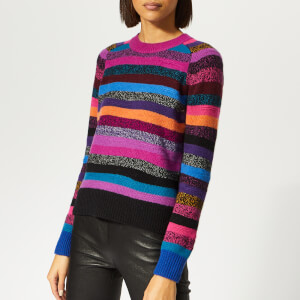 Marc Jacobs Women's Crew Neck Knit Jumper - Magenta Multi