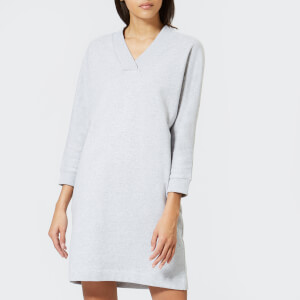 KENZO Women's Light Cotton Molleton Sweat Dress - Light Grey